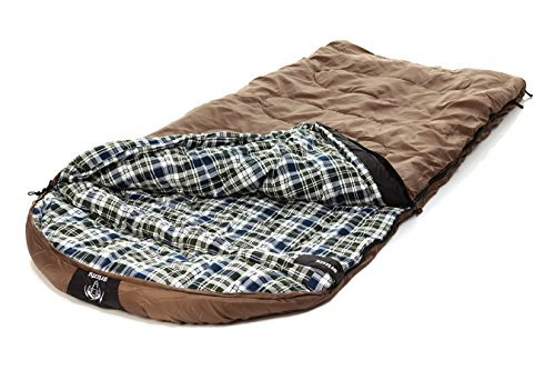 Blackpine Sports Grizzly +25 Degree RipStop Sleeping Bag (Tan)