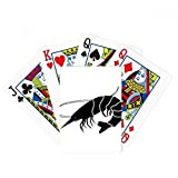 Marine Life Black Shrimp Illustration Poker Playing Card Tabletop Board Game Gift