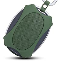 Wireless Speakers, ZENBRE D4 2x3W Waterproof 4.0 Speaker, 12 Hours Play Time and IPX5 Water-resistant, Portable Outdoor Speakers (Green)