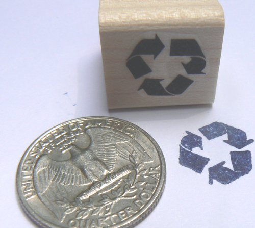 Miniature recycle rubber stamp