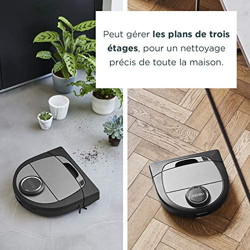 Neato Robotics D750 Aspirateur Robotique Premium Pack avec Accessoires Exclusifs pour Animaux Domestiques, Robot Aspirateur pour le Nettoyage des Coins, Tapis et Sols Durs, Compatible avec App/Alexa - Home Robots