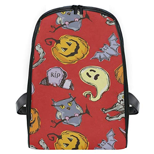 Backpack Halloween Pumpkin Ghost Personalized Shoulders Bag Classic Lightweight -