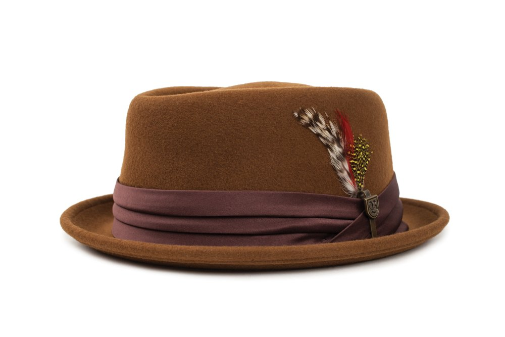58818034e6d Galleon - Brixton Men s Stout Pork Pie Fedora Hat