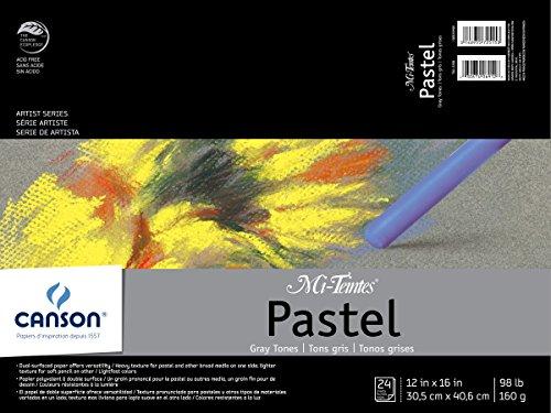 Mi-Teintes Pastel Pad, Gray Tones, 12