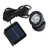 Solar Pond lights, Solar Spotlight Available for Outdoor Garden Pool Pond Spot Lamp Light (White)