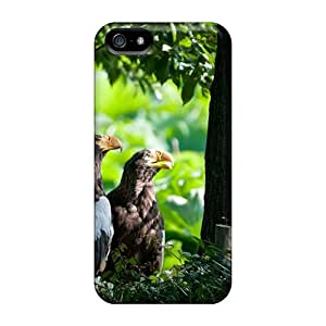 Fashion Protective Animal Two Eagles Backgrounds Case Cover For Iphone 5/5s