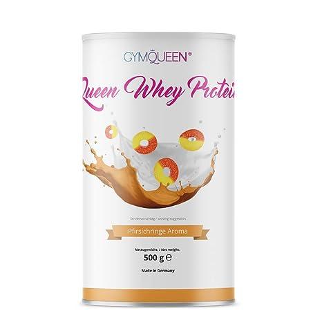 GymQueen Proteína de Whey – Proteína de suero de leche concentrada e aislada, Aros de