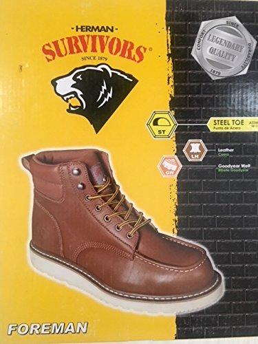 Herman Survivor Foreman Men's Steel Toe Waterproof Brown Work Boots (7.5 US)