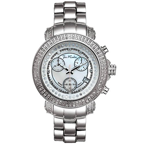 Joe Rodeo JRO1 Rio Diamond Watch, White Dial with Silver Band by Joe Rodeo