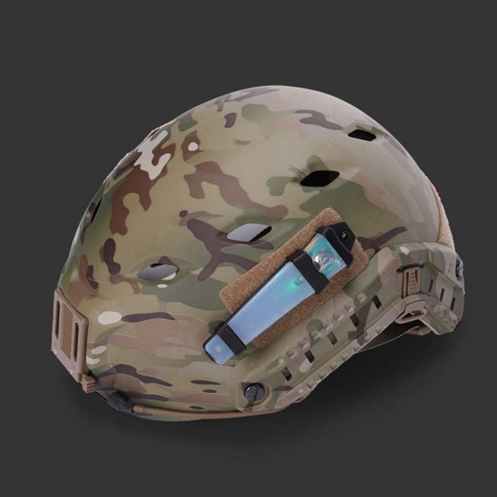 Luz de se/ñalizaci/ón de casco militar para exteriores FMA Creamon Luz de se/ñalizaci/ón de casco militar para exteriores FMA con cinta L/ámpara de supervivencia ligera para casco militar impermeable Rojo