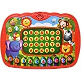 Learning Tablet for Kids, Toddler Educational ABC Toy, Learn Alphabet Sounds, Music and Numbers - Early Development Electronic Activity Game
