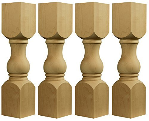 (Shanty to Chic Coffee Table Leg in Paintgrade Rubberwood- Set of 4-18