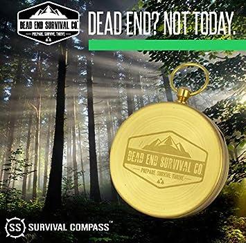 R/étro Compas Portable Survie Militaire Compass Fluorescent Glow Survival Gear Compass Navigation en Plein Air Outils de Boussole pour Camping Randonn/ée /Équitation