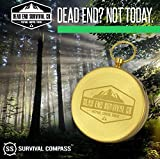 Sharp Survival Best Camping Survival Compass | Glow in the Dark Military Compass | Highest Quality Survival Gear Compass