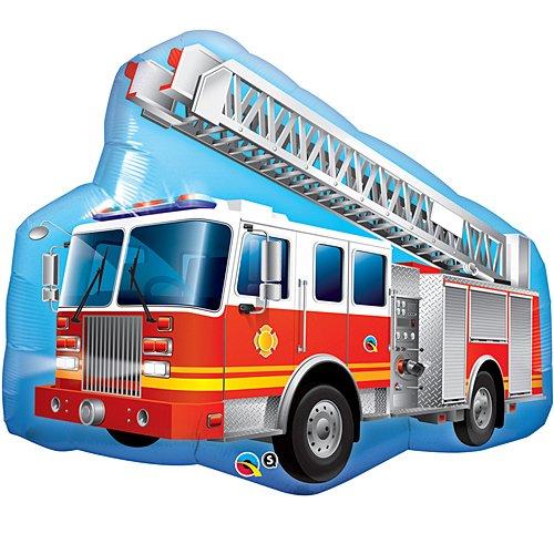 Shindigz Fire Truck Shaped - Fire Balloon Truck