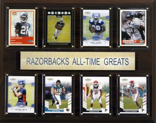 NCAA Football Arkansas Razorbacks All-Time Greats Plaque