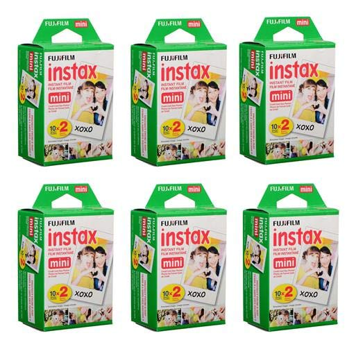 Fujifilm Instax Mini Instant Film (6 Twin Packs, 120 Total Pictures) for Instax Cameras