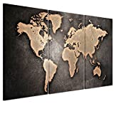 Modern Printed Canvas Wall Art Painting Picture Home Decor Mural Ancient Style World Map - Unstretched, Sold without Wooden Frame