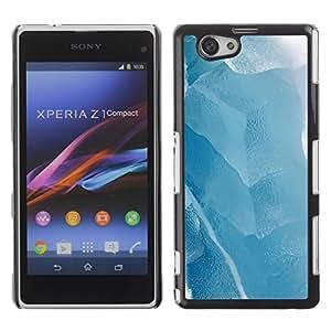 Be Good Phone Accessory // Dura Cáscara cubierta Protectora Caso Carcasa Funda de Protección para Sony Xperia Z1 Compact D5503 // Ice Winter Lake White