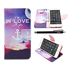 iPhone 6S Case, iPhone 6 Case Wallet, iYCK Premium PU Leather Flip Carrying Magnetic Closure Protective Shell Wallet Case Cover for iPhone 6 / 6S (4.7) with Kickstand Stand - I'm In Love With You