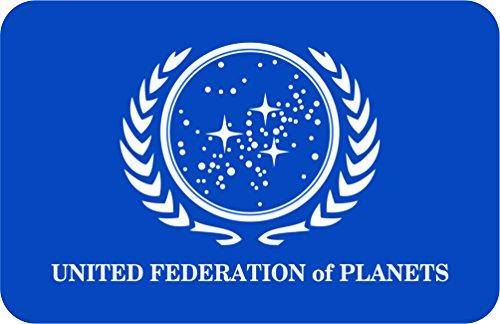 Östberg & Sørensen Star Trek Magnet | United Federation of Planets | 3.4 x 2.12 in / 8.5 x 5.5 cm (Star Trek United Federation Of Planets Blue Flag)