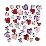 Plastic Jewels - Hearts, approx. 150/pk