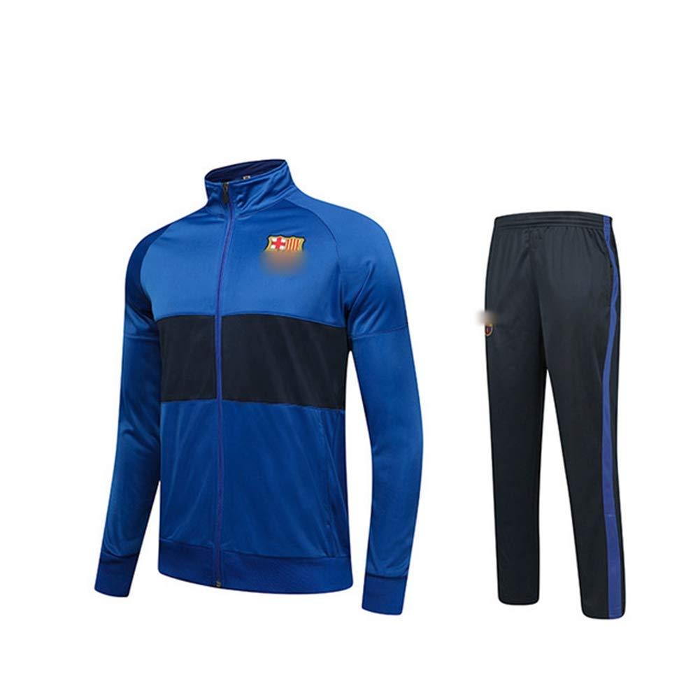 HS-HWH316 Barcelona Transpirable Ch/ándal Set Gimnasio Sendero Bottoms Informal Full Zip Joggers Fitness Deportivo Sweatsuit con Los Bolsillos Ventiladores Ropa De Regalos,L165~170CM