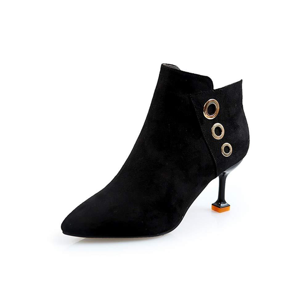 JUNKAI Stiefel Martin Stiefel Stiefel Schwarze Schuhe High Heels Stiefeletten Und Damenschuhe.