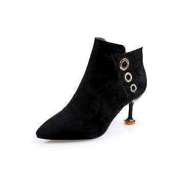 JUNKAI Botas Botas Martin, Botas, Zapatos Negros, Tacones Altos, Botines y Zapatos de Mujer. Treinta: Amazon.es: Deportes y aire libre