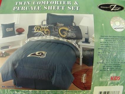 Amazon Com Nfl Denim Bedding Set St Louis Rams Twin Size