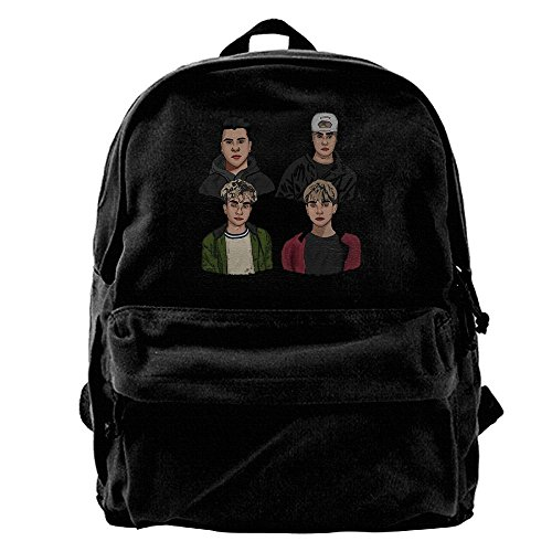 RobertJ.Rivera Unisex Women's Man's Dobre Brothers Canvas Practical Gym Young Idol Backpack Black