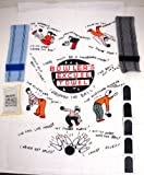 4 Item Bowling Accessories Bowlers Tape Grip Bag Excuse Towel Wristlets Thumb Tape Gift Quick