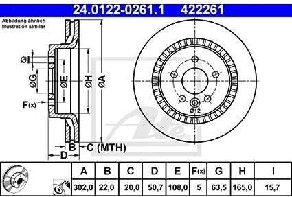 2 Bremsscheiben Belüftet 328 mm Bremsbeläge VorneATE 1420-23104