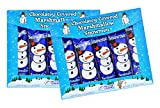 Chocolate Covered Snowman Marshmallow - Pack of 2, (10 Count)