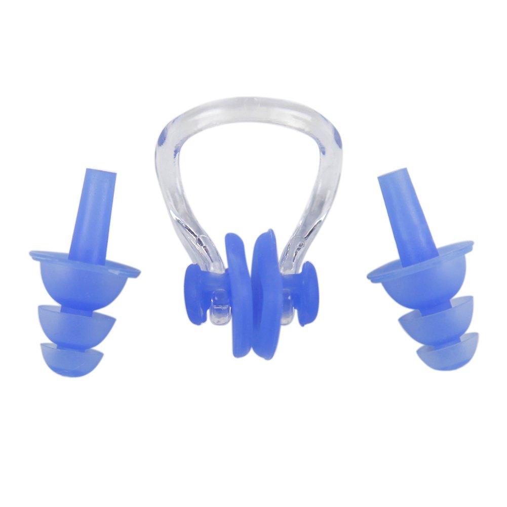 Lisliソフトシリコン水泳耳栓+鼻クリップ水スポーツ3個のセット ブルー B01EJHHNBS B01EJHHNBS, 会津坂下町:88510500 --- itxassou.fr