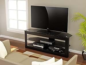z line designs maxine tv stand 55 inch black kitchen dining. Black Bedroom Furniture Sets. Home Design Ideas