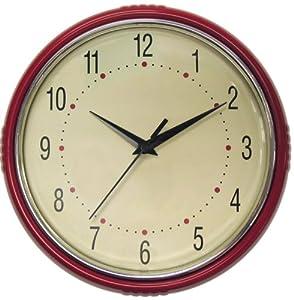 Amazon Com Geneva 9 1 2 Inch Plastic Diner Wall Clock
