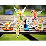 Anime Cartoon Tinkerbell Fairy PVC Action Figure Toys Girls Dolls Gift 6pcs/set by Dinglongshan