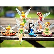 Anime Cartoon Tinkerbell Fairy PVC Action Figure Toys Girls Dolls Gift 6pcs/set by Dinglongshan