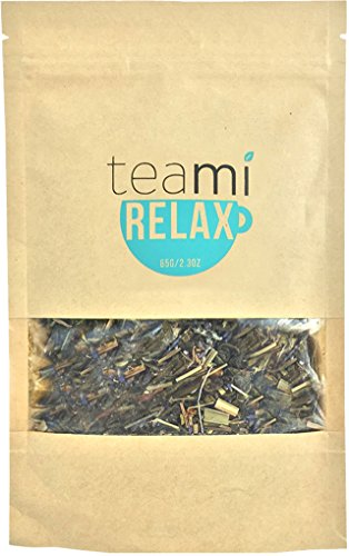 Night TIME Chamomile Relax Tea by Teami Blends® - Best for Night Time Before Sleep, Stress Relief, to Calm The Mind with 100% All-Natural Valerian Root, Lavender, and Peppermint. Caffeine Free!