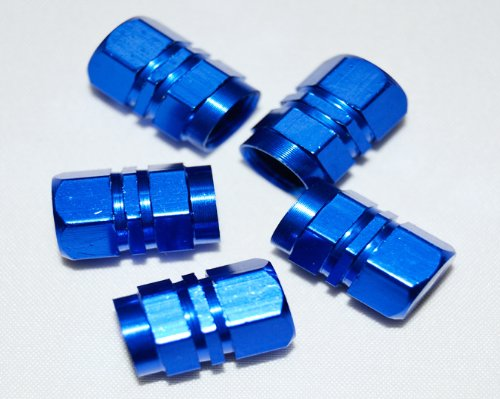 BLUE BULLET VALVE DUST CAPS FOR MG TF ZR ZS ZT MGB MGC MGF