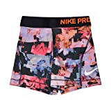 Nike Girl's Pro Training Shorts (Hyper Pink/Orange-Burst, X-Small)