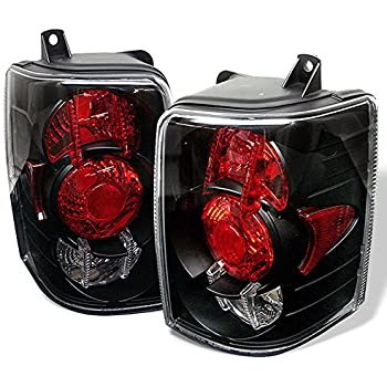 93-98 Jeep Grand Cherokee SUV Black Bezel Rear Tail Lights Brake Lamps Replacement Pair Left + Right
