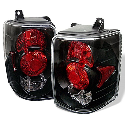 For 93-98 Jeep Grand Cherokee SUV Black Bezel Rear Tail Lights Brake Lamps Replacement Pair Left + ()
