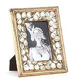 Beaded Design Golden Wood Photo Frame