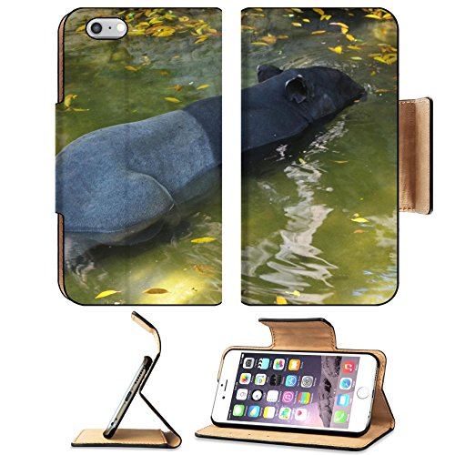 Liili Premium Apple iPhone 6 Plus iPhone 6S Plus Aluminum Snap Case tapir wild adult male in river corcovado national park costa rica IMAGE ID - Mal Park Meadows