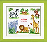 (US) Vervaco 2002/70.357 | Zoo Animals Birth Record Counted Cross Stitch Kit