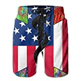 EMS USA Paramedic Men's Athletic Shorts Quick Dry Beach Surf Shorts Swim Trunk