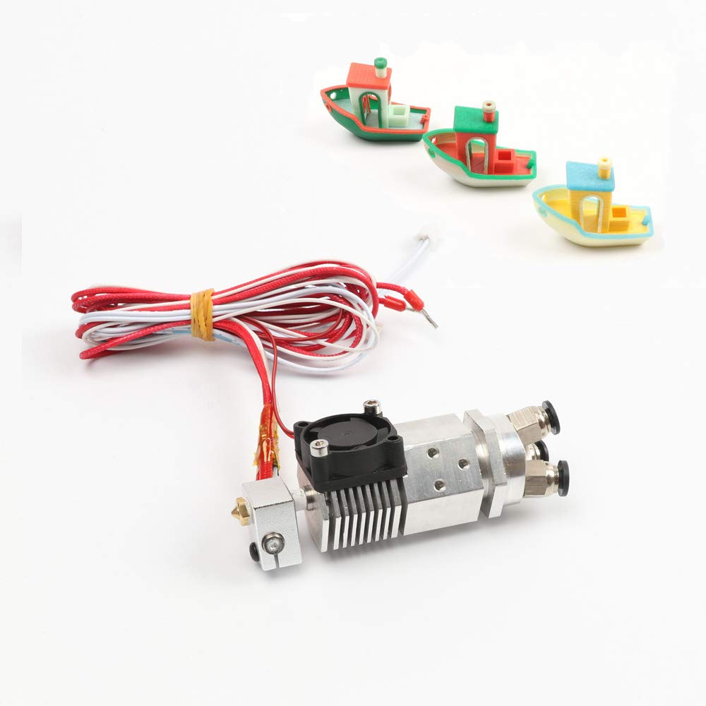 HE3D 3D Printer Parts 3 in 1 out Multi-color Extruder Hot end Three Colors 12V