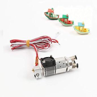 HE3D Impresora 3D partes 3 en 1 salida extrusor multicolor ...